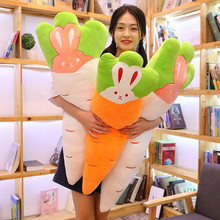 Милые Морковные полосы подушки редиска Кролик Плюшевые игрушки Мягкая Подушка для сна куклы девочка подарок на день рождения