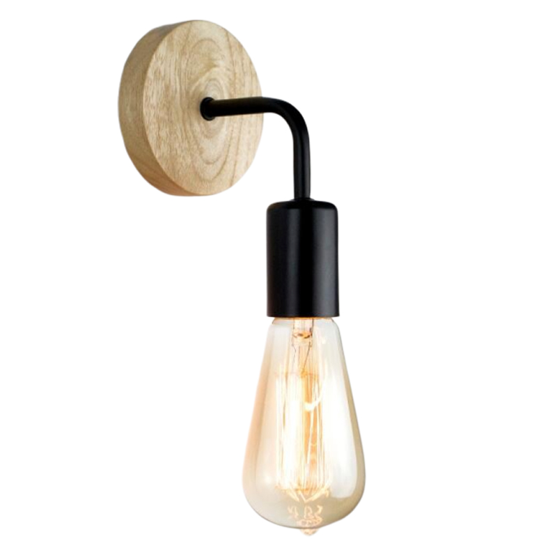 Industrial <font><b>Wood</b></font> Led <font><b>Wall</b></font> <font><b>Lamp</b></font> Modern Wooden Sconce <font><b>Wall</b></font> Lights for Home Light Fixture <font><b>Vintage</b></font> Retro <font><b>Wall</b></font> Light Decor Edison <font><b>Lamp</b></font> image