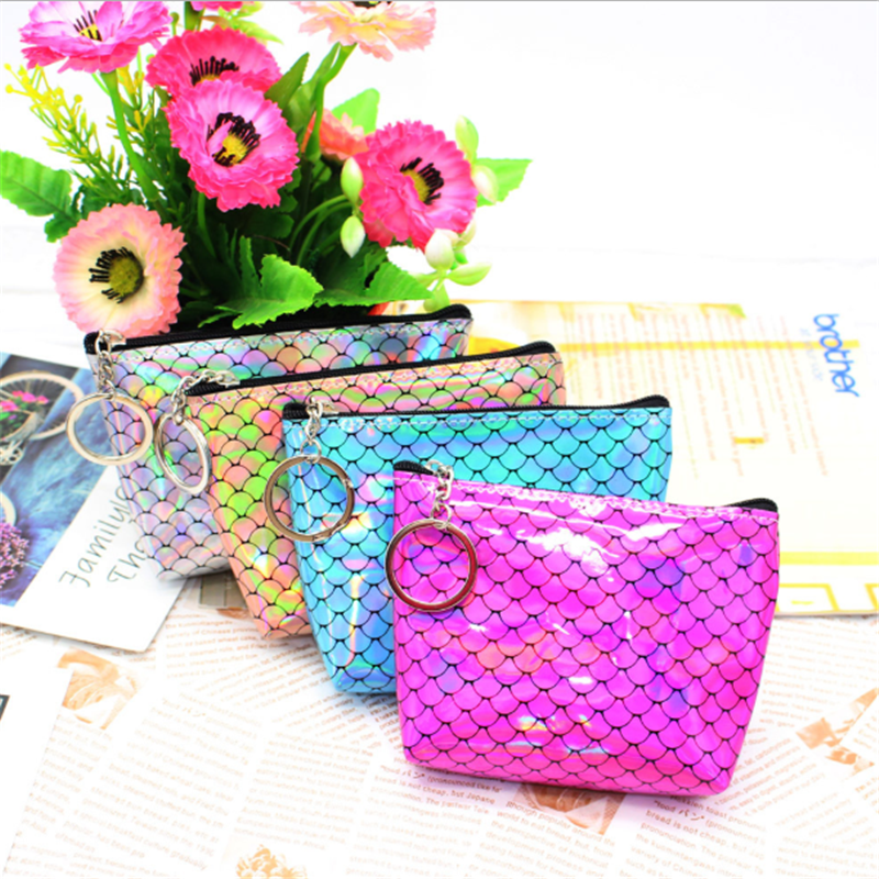 Vogvigo Mermaid Travel Cosmetic Bag Casual Zipper Make Up Makeup Case Organizer Storage Pouch Toiletry Beauty Wash Kit Bags