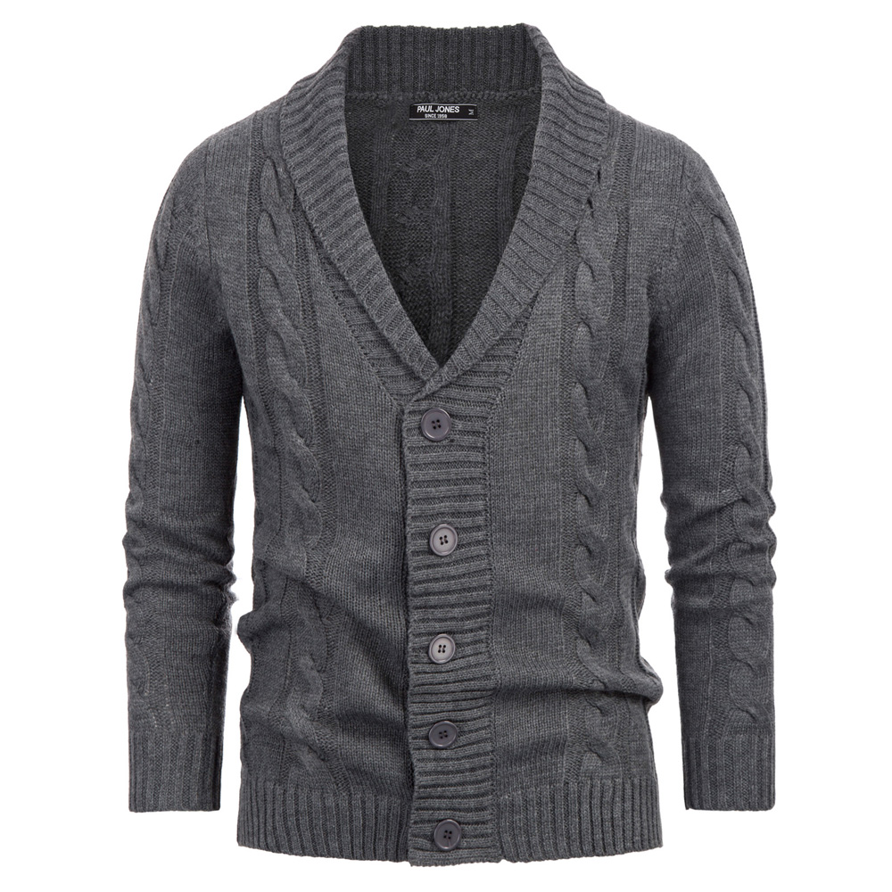 Mens Autumn Warm Shaped Knitted Sweater Cardigan Outwear Thicken Warm Fashion