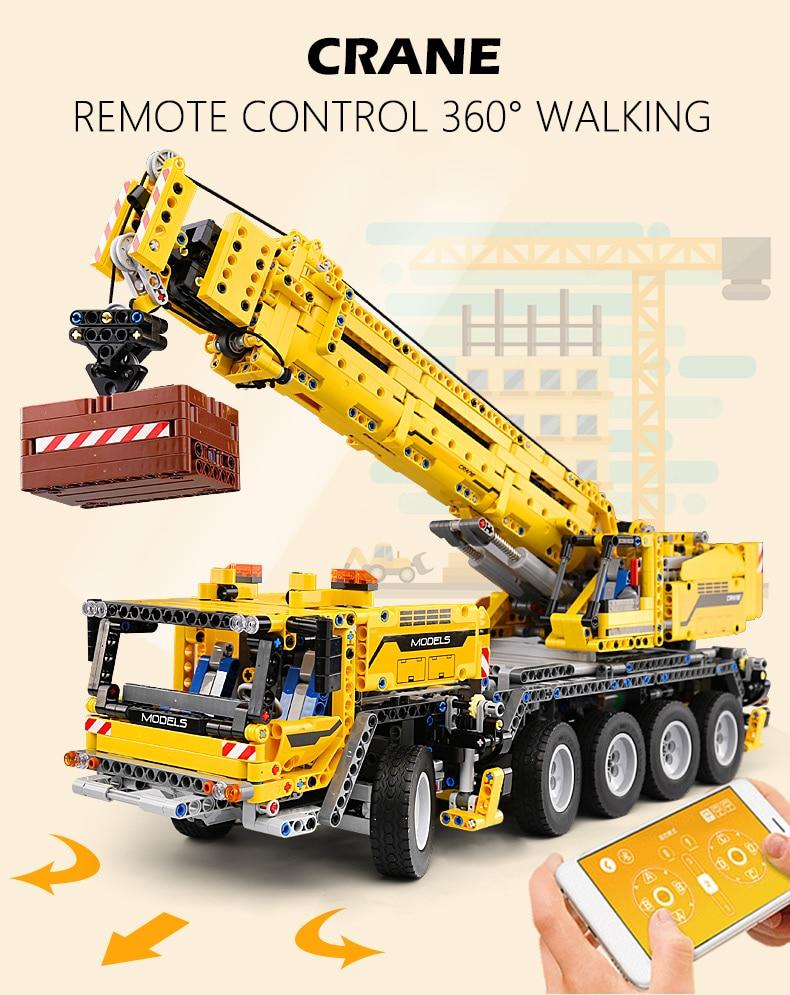 MOULD KING  Technic Motor Power Mobile Crane Mk II Building Block 5