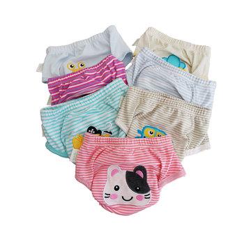 Wielokrotnego użytku spodnie treningowe dla niemowląt niemowlę bawełniane spodenki bielizna pieluchy z tkaniny pieluszki dla niemowląt wodoodporna nocnik szkolenia majtki 1 sztuk tanie i dobre opinie BABYFRIEND Unisex 3-15 kg CN (pochodzenie) 7-12m 13-24m 25-36m inne Pielucha Cotton Indoor Outdoor Toddlers Infant Kids Newborn Children