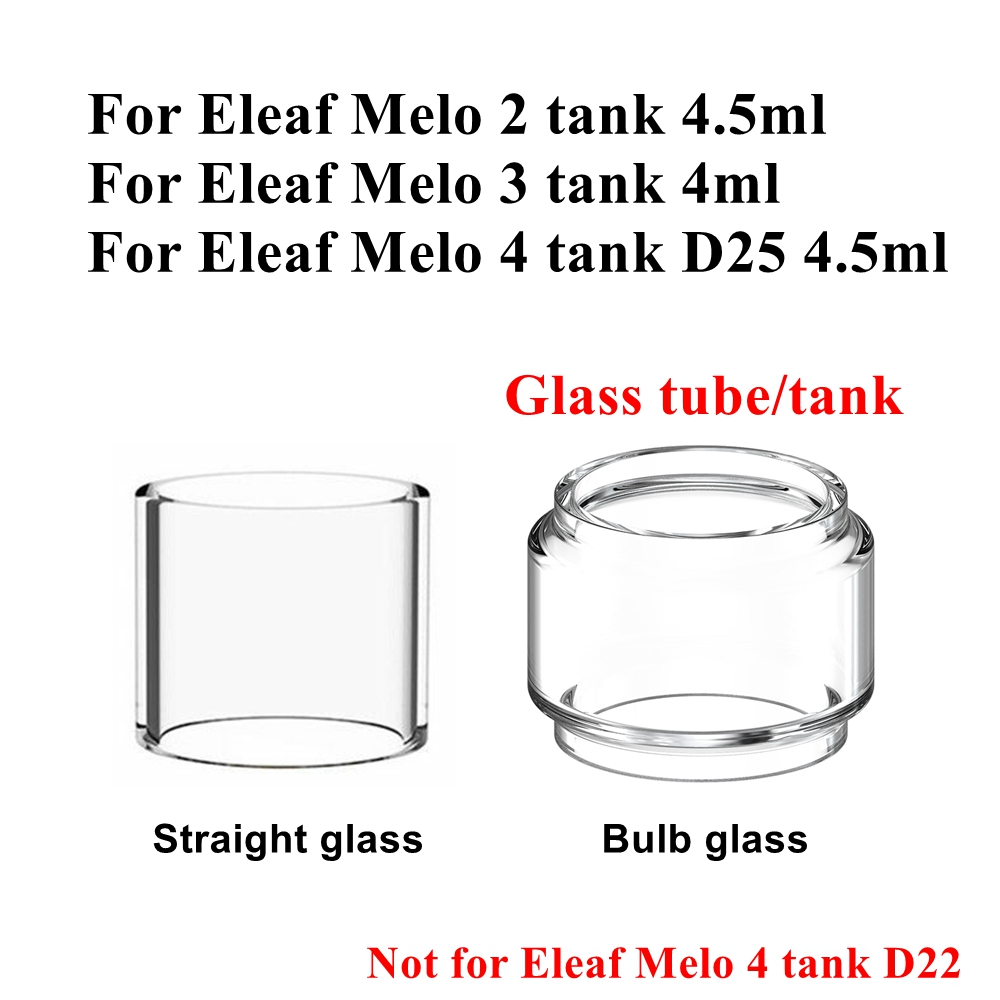 4/1pcs HXJVAPE Original Pyrex Glass Tank Tube Vape Accessories For Eleaf Melo 2 / 3 / 4 Tank D25 Atomizer 4ml 4.5ml