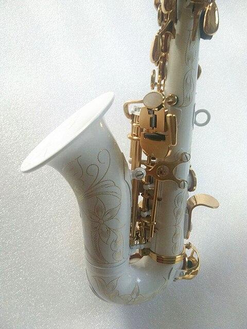 Yeni yüksek kaliteli soprano saksafon Beyaz saksafon Kavisli soprano saksafon Komple parçaları