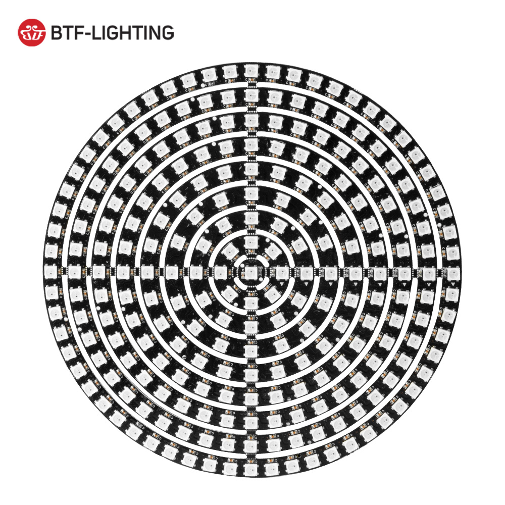 WS2812B DIY RGB LED Ring 37 To 241 Pixels WS2812 Round Modules SK6812 5050 Built-in RGB Addressable DC5V LED Circle Arduino Ring
