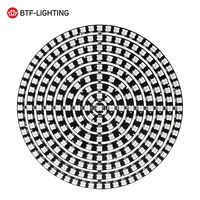 WS2812B DIY RGB LED anillo 37 a 241 píxeles WS2812 módulos redondos SK6812 5050 incorporado RGB direccionable DC5V LED círculo Arduino anillo