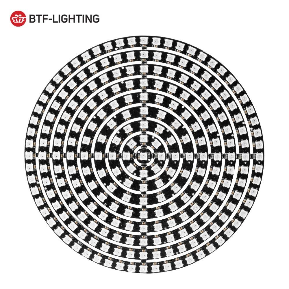 Ws2812b diy rgb led anel 37 a 241 pixels ws2812 módulos redondos sk6812 5050 rgb embutido endereçável dc5v led círculo arduino anel