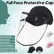 Cap Visor Protective-Mask Detachable Anti-Spray-Hat Mouth-Cover Outdoor Droplet Full-Face-Shield