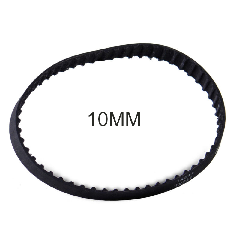 Black Timing Belt Closed Loop 55 Teeth Rubber Kit For Sander Synchronous Belts Part 429964 3 8/10mm 110XL031