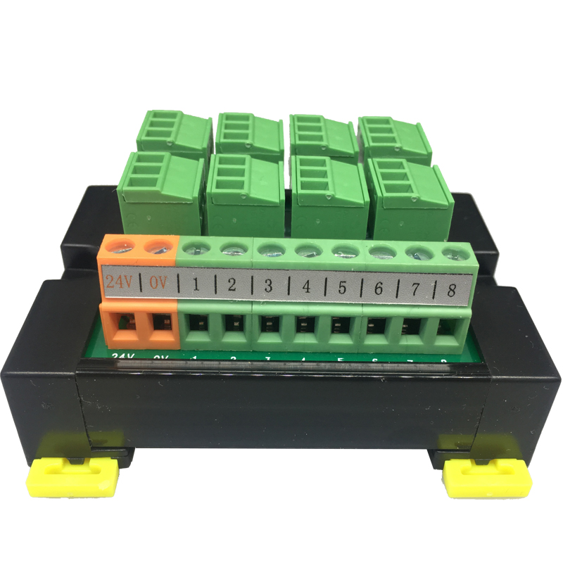 PLC Sensor Terminal Block Module 3-wire 8-bit IO Photoelectric Proximity Magnetic Open DIN35 Instead Of T081