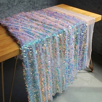 3d Laser Square Mermaid Sequin Mesh Fabric Backdrop For Blinds Photography Backdrops Wedding Backdrop Photo Backdrop DIY Hot