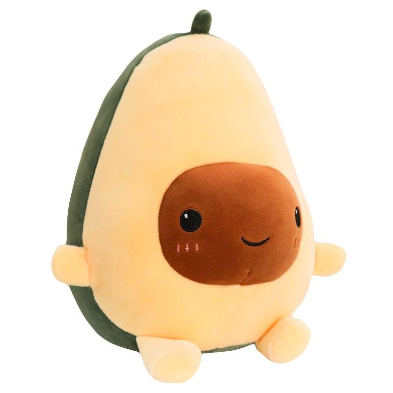 1 Pcs 30-60CM Cute Avocado Stuffed Plush Toy Soft Baby Doll Cartoon Fruit Pillow Sofa Cushion Kids Girls Christmas Birthday Gift