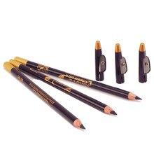 1 pçs à prova dlong água de longa duração excelência sobrancelha delineador lápis maquiagem olho ferramentas beleza marrom/preto com tampa do apontador novo