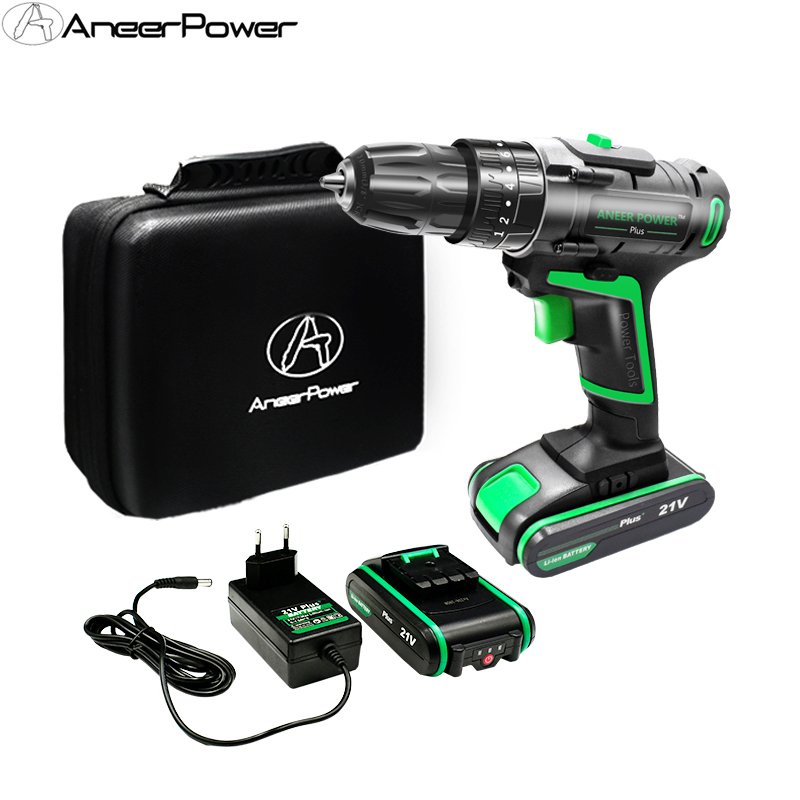 21V New Style Impact Drill Electric Screwdriver Hand Electric Drill Battery Cordless Drill Home Diy Power Tools & Light Tool Bag