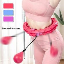 Cintura abdominal esporte inteligente treinamento aros círculo yoga casa fitness aros círculo ajustável cintura trem anel barriga trainer cintura