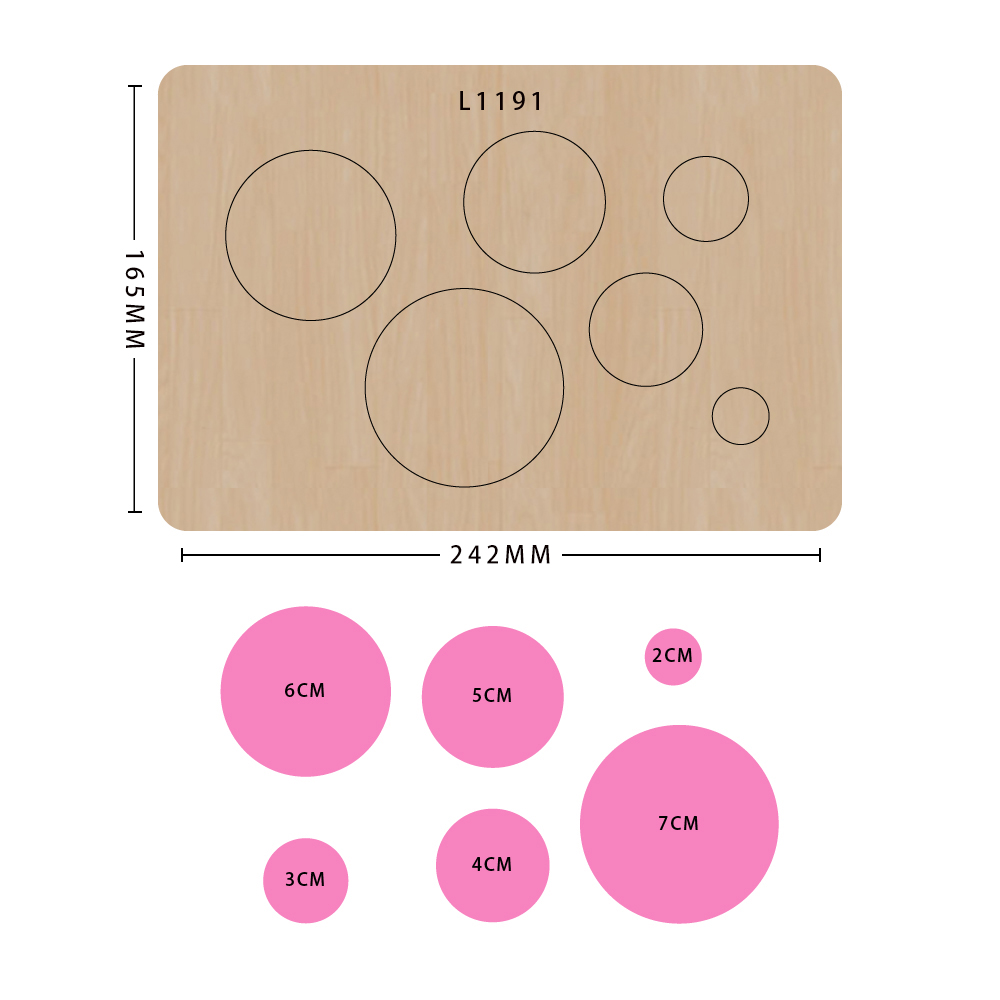 SMVAUON 2021 Circles of Different Sizes Wooden Cutting Dies For Scrapbooking Making Decor Supplies Dies Template 2
