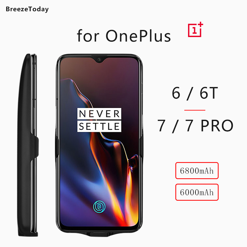 6800mAh Battery Case Battery Charger Case Charging Power Case For OnePlus 6T 6 Power Bank For OnePlus 7 7 PRO чехол аккумулятор