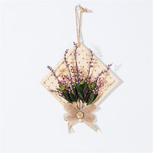 Wall decor garden bamboo Diamond square artificial flower fake plant loop pendant shop wind chimes wall hangings fresh life(China)