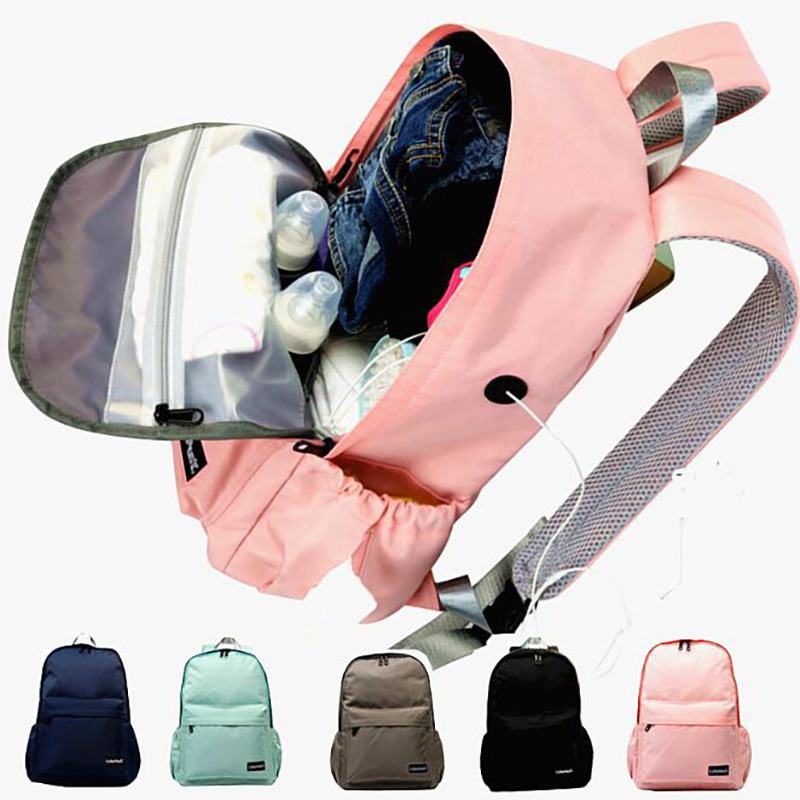 Mummy Backpack Stroller With USB Large Handbag Maternity Shoulder Bags Outdoor Baby Nappy Bag Multifunction