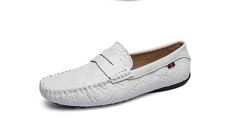 Homens moda Casual Sapatos Mocassins De Couro Liso Para O Sexo Masculino Low Top Calçado Sapatos Slip-on Apartamentos Primavera Verão Homens sapatos Respirável