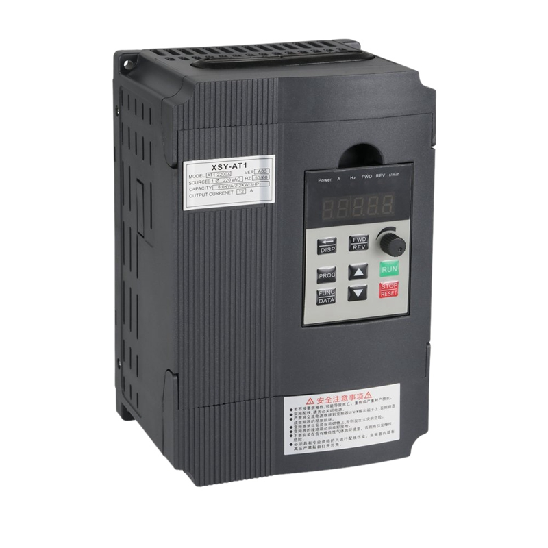 Variable Frequency Drive, <font><b>Vfd</b></font> <font><b>Inverter</b></font> Frequency Converter <font><b>2.2Kw</b></font> 3Hp 220V 12A for Spindle Motor Speed Control (<font><b>Vfd</b></font>-<font><b>2.2Kw</b></font>) image