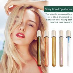 6 цветов, мерцающие жидкие тени для век, блеск для макияжа глаз