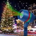 新年クリスマススターレーザープロジェクターシャワーライト LED 屋外景観ランプスノーフレーク芝生レーザープロジェクター 220 220v の妖精ライト