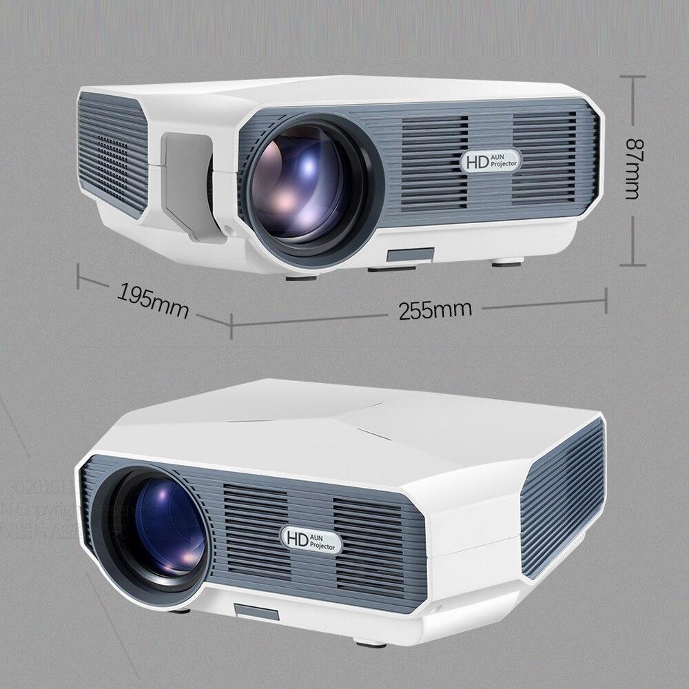 AUN LED Projektor ET10, 3800 lumen, 1280x720 P, Optional Mirroring/Android WIFI Projektor, unterstützung 1080P Video 3D MINI beamer - 5