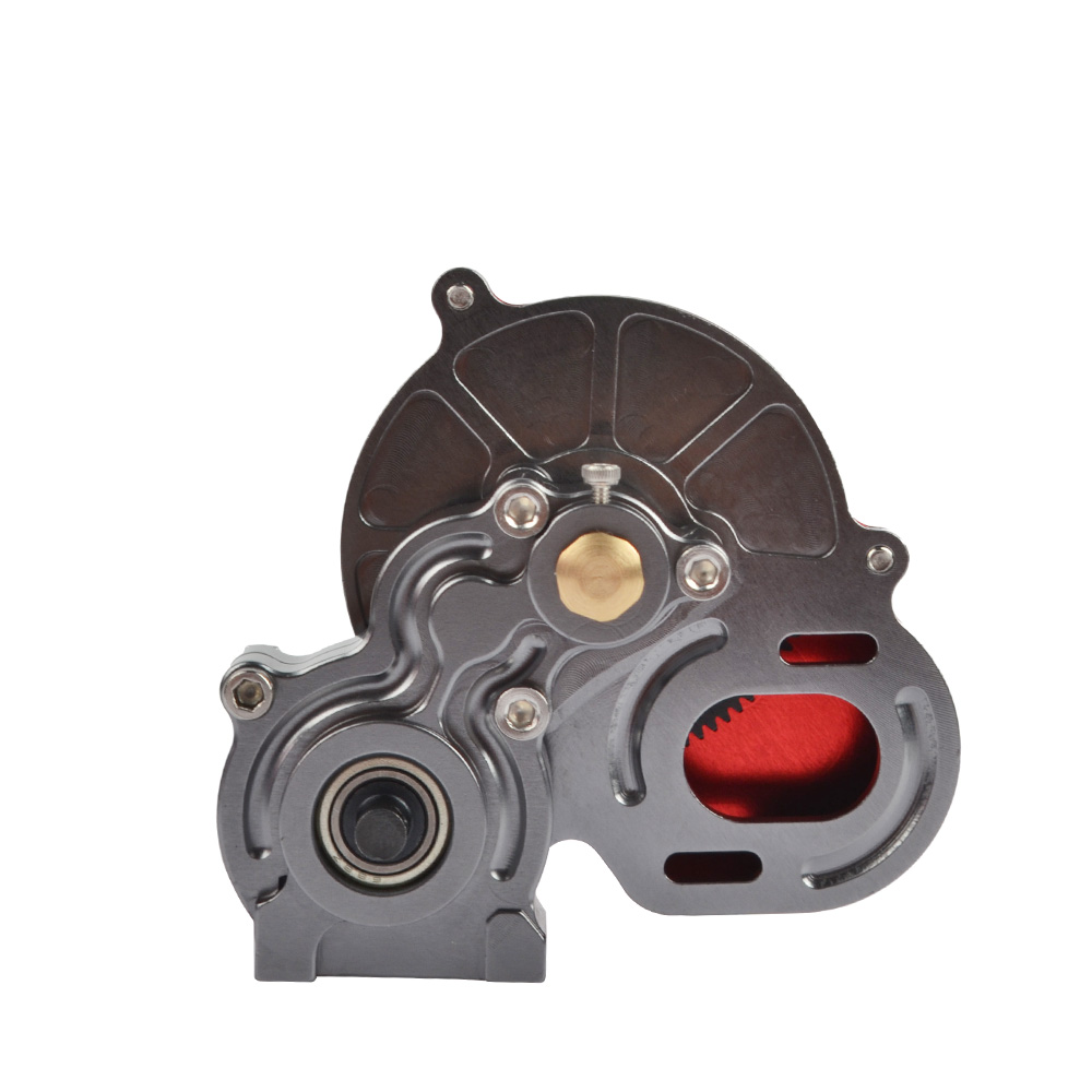 Купить с кэшбэком RC Metal Transmission Gearbox Tranny With Straight Gear for Axial SCX10 SCX10 II 90046 D90 1/10 RC Crawler Car