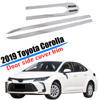 Fit for 2019 2020 Toyota Corolla Sedan Door Body Side Trim Protection Molding Cover ABS Plastic Car Styling Accessories