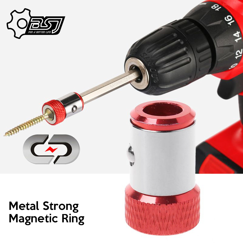 2020 1/4″ 6.35mm Metal Strong Magnetic Ring Magnetizer Screw Electric Phillips Screwdriver Bits /Color Random