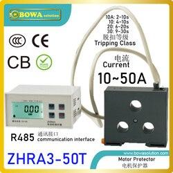 ZHRA3-50T zabezpieczenie silnika z interfejsem protokołów Modbus RS485 sprawiają  że pompy ciepła w jednej grupie działają/zatrzymują się za pomocą poleceń wydajności