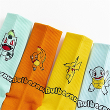 Winter Japanese cartoon anime cute animal Pikachu socks Harajuku fashion trend cotton print crew socks casual happy funny socks women s japanese cotton crew socks rainbow fox bear cartoon animal trend personality skateboard socks funn y cute happy socks