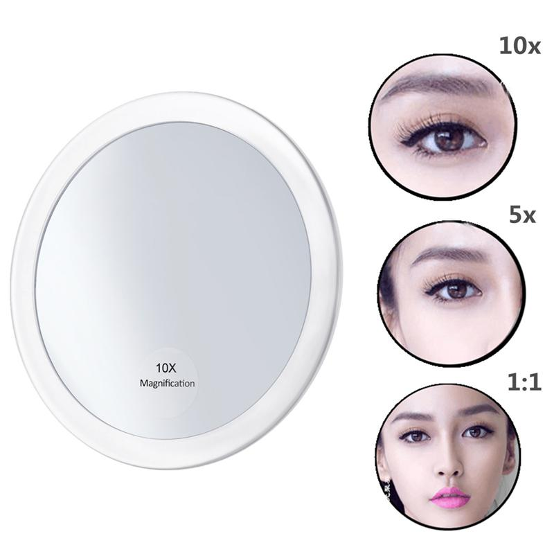FRCOLOR Useful 10X Magnifying Glass Mirror Magnification Makeup Tool Round Mirror For Travel Dropshipping
