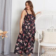 Wanyucl feminino vestido de tamanho grande 200 kg 2021 verão novo produto impresso vestido de uma peça feminina