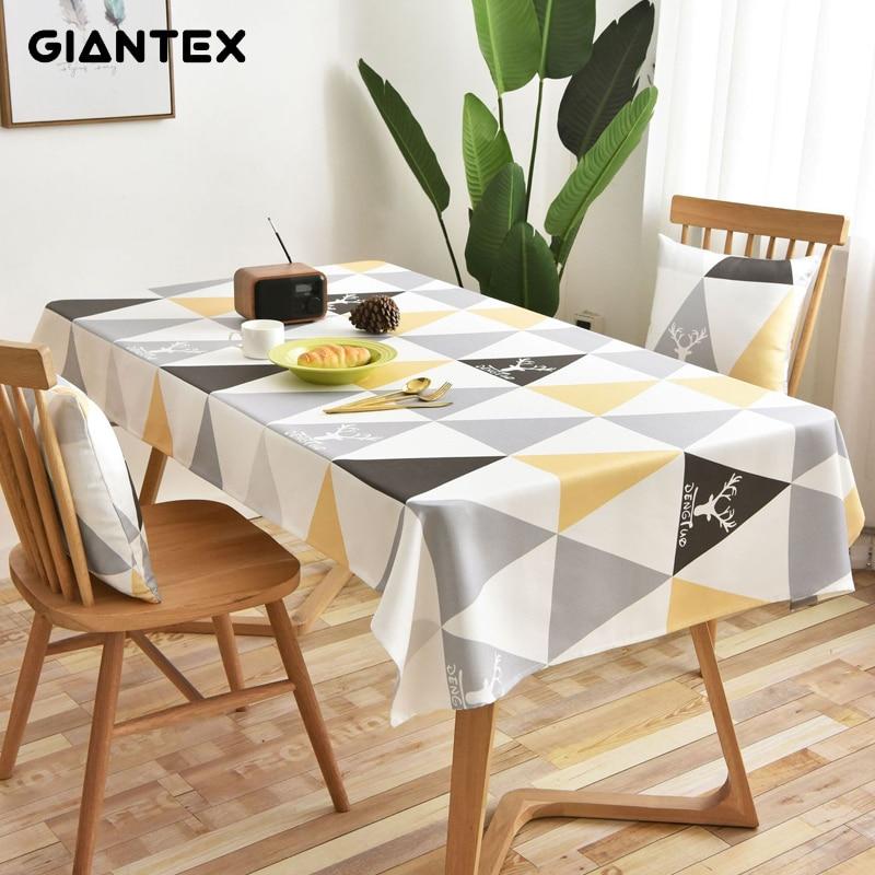 GIANTEX Decorative Table Cloth Tablecloth Rectangular Tablecloths Dining Table Cover Obrus Tafelkleed Mantel Mesa Nappe U2072
