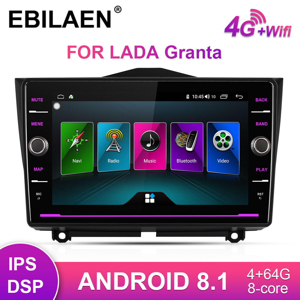 Car Multimedia player For LADA Granta Cross 2018 2019 2Din Car Android 8.1 Autoradio GPS Navigation Radio Video DVD Stereo image