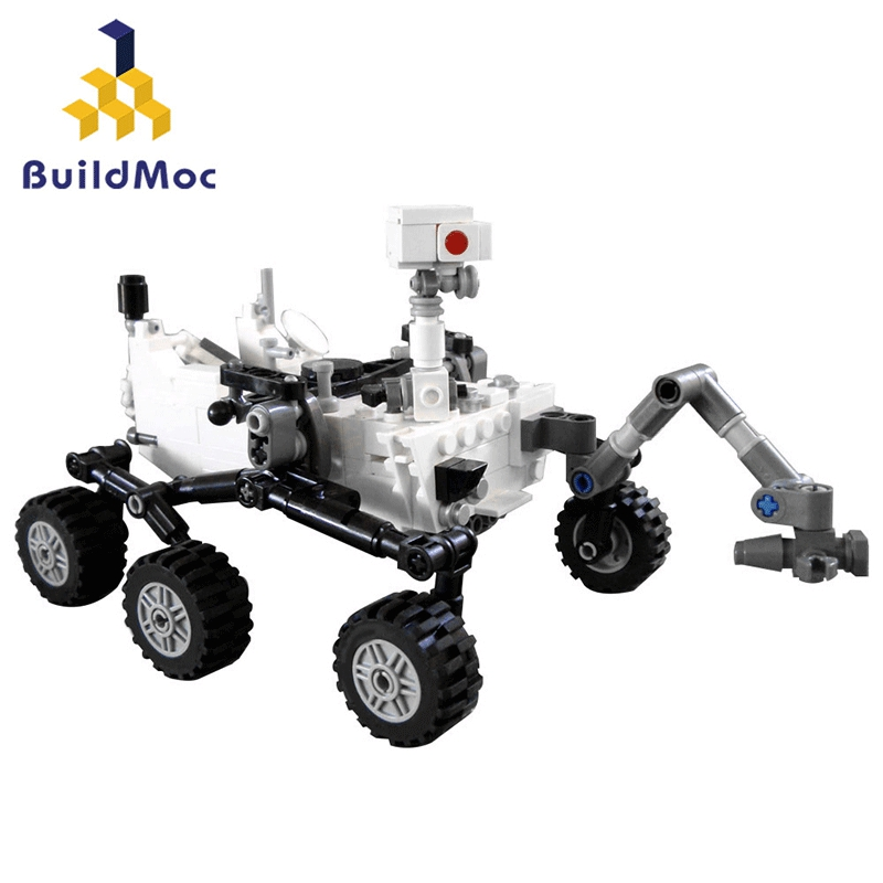MOC Station spatiale fusée lunaire landser curiosité Rover navette navire chiffres modèle blocs de construction briques jouet enfants