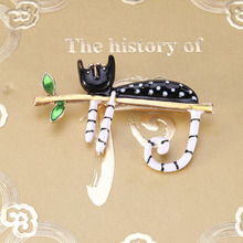 Beadsland Alloy Inlaid Rhinestone Brooch Kitten Modeling Fashionable High-end Clothing Accessories Pin Woman Gift MM-895