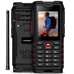 "ioutdoor T2 4500mAh IP68 Waterproof shockproof Russian keyboard rugged Mobile Phone 2.4"" Walkie-talkie intercom FM cellphone(China)"