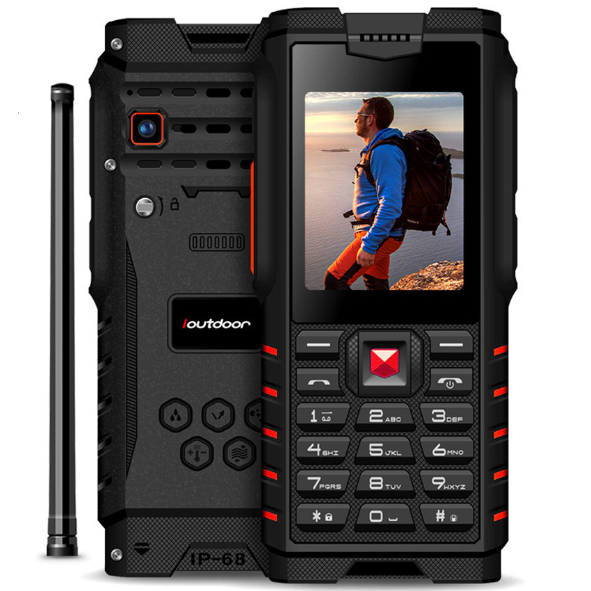 ioutdoor T2 4500mAh IP68 Waterproof shockproof Russian keyboard rugged Mobile Phone 2.4