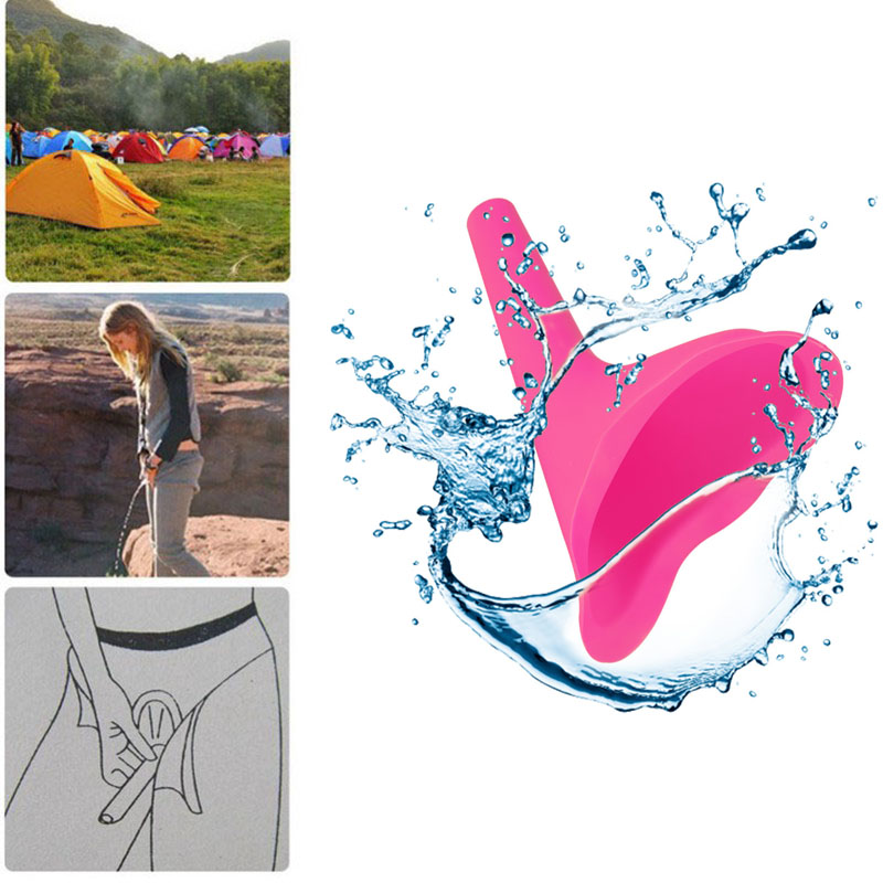 Women Urinal Soft Silicone Urination Device Travel Outdoor Camping Stand Up Pee Girl Urine Toilet Parts Urinals Fixture for Girl