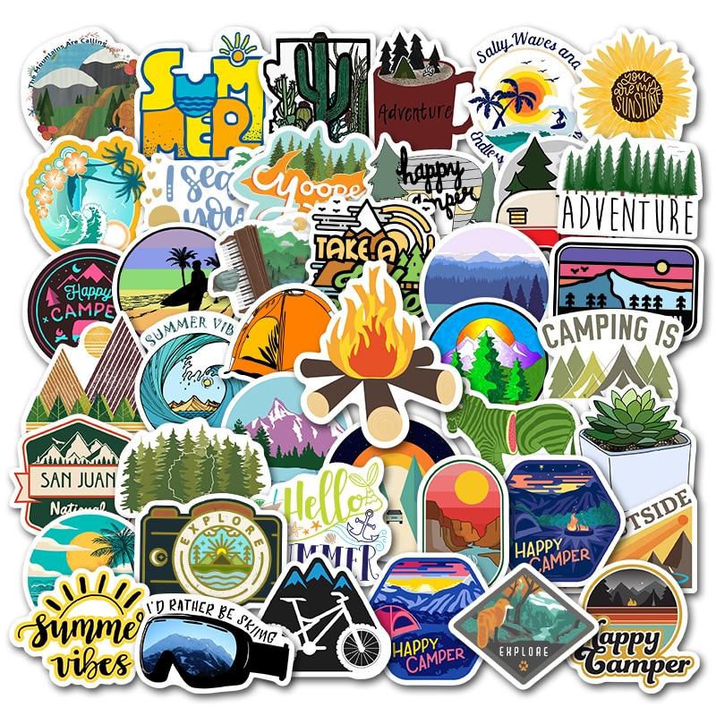 Happy Camper Sticker Pack (50 piece) 1
