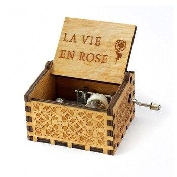 Ręcznie Rock Box prezent nuta Box Caixa Musica fabryka Caja Cajita Musical Madera Wood Moon River pozytywka jesteś moim słońcem