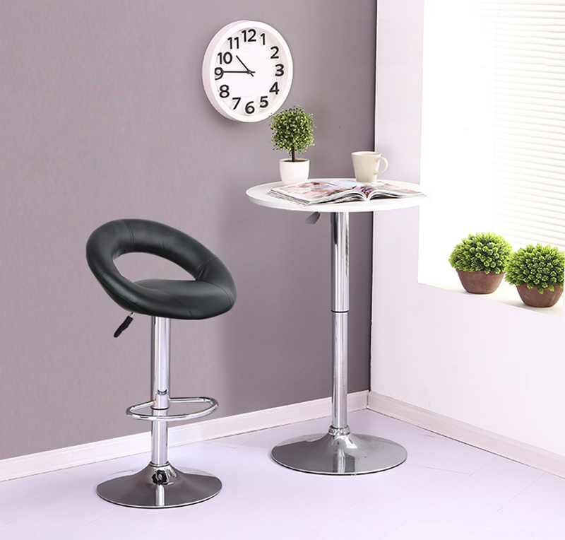Soft Meeting Elastic Slipcover Seat Office Home Polyester Round Chair Stool Bar Printed Four Seasons