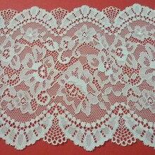 Elastic Lace Trims DIY Clothing Accessories Dress Sewing Applique French Stretch Net Lace Fabric 14cm width кружево для шитья diy lace garden 7 14cm lt048 diy embroiered