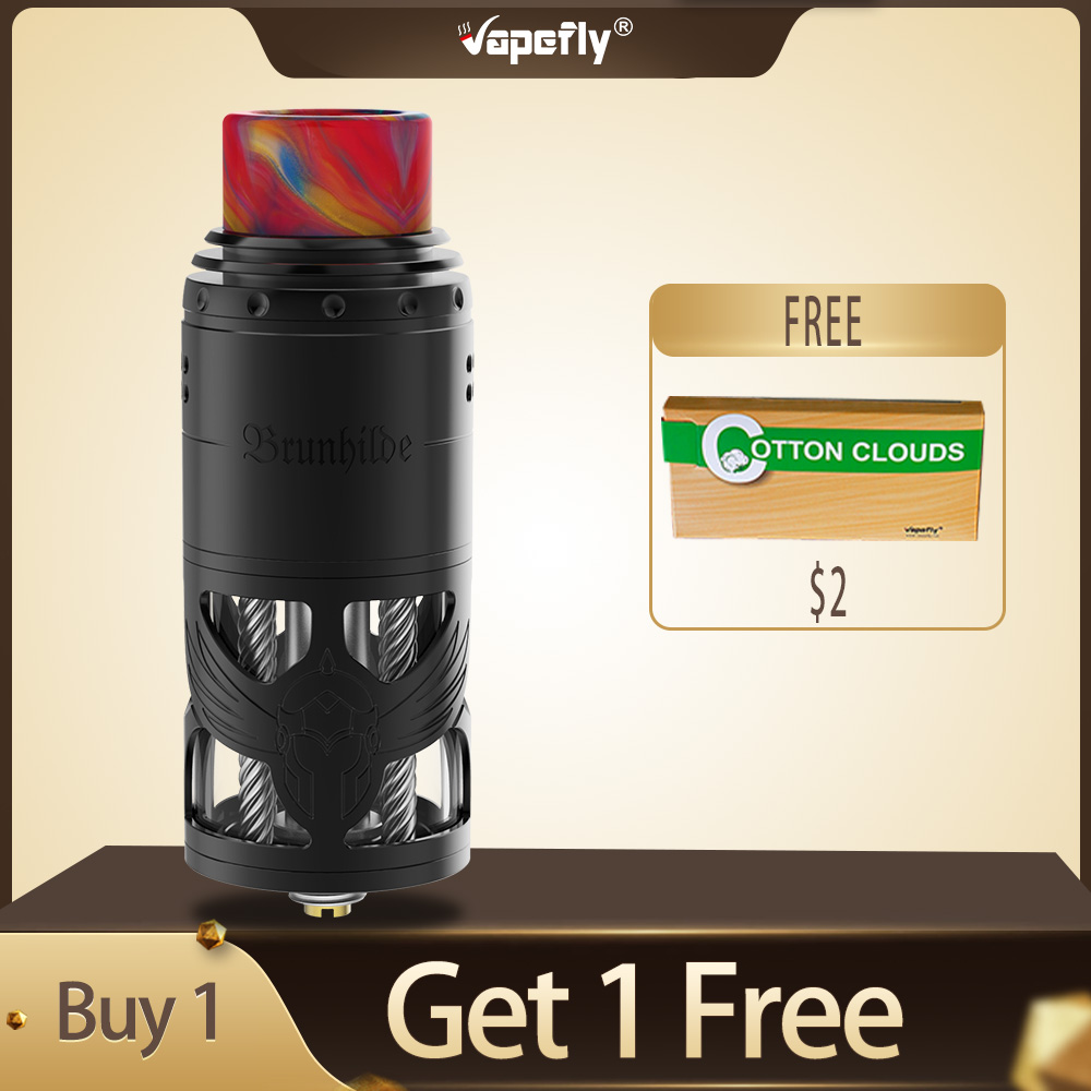 Newest E Cigarette Vapefly Brunhilde Top Coiler RTA 8ml/2ml With SS Hollow Construction & Dual Coil Building Vape Tank