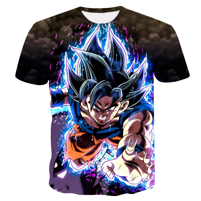 Adult Anime Dragon Ball Super Saiyan T Shirt 2019 New Summer  High Quality Raglan Men T-shirt Casual Top Tees S-6XL