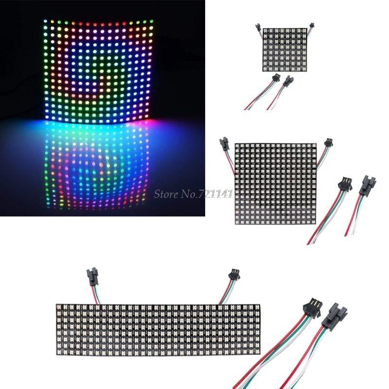 8*8/16*16/8*32 WS2812B панель SK6812 Ragid панель Адресуемая 5050 RGB DC5V черный белый полноцветный экран дисплея Гибкая панель
