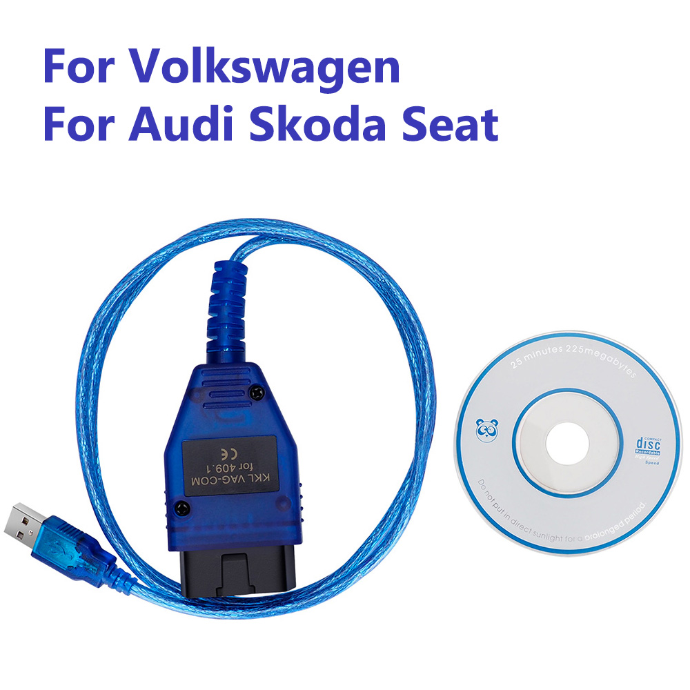 VAG409.1 Vag 409 VAG-COM KKL409 OBD2 USB Diagnostic Cable Scanner Tool For Audi Volkswagen VW Skoda Seat Transporter Bora Superb